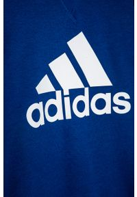 Niebieska bluza Adidas bez kaptura, na co dzień, casualowa
