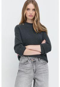 Marella - Sweter wełniany. Okazja: na co dzień. Kolor: szary. Materiał: wełna. Długość rękawa: długi rękaw. Długość: długie. Styl: casual