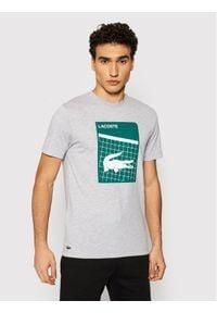 Lacoste T-Shirt TH9654 Szary Regular Fit. Kolor: szary