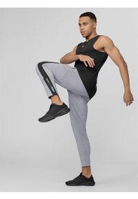 Szare spodnie sportowe 4f na fitness i siłownię