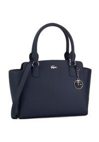 Lacoste - Torebka LACOSTE - M Shopping Bag NF2594DC Peacoat. Kolor: niebieski. Materiał: skórzane. Styl: klasyczny