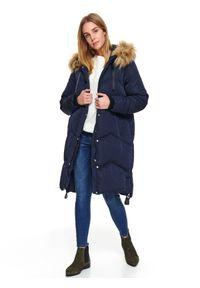Niebieska kurtka TOP SECRET długa, na zimę