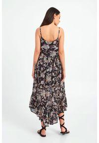 Sukienka TwinSet w koronkowe wzory, bez rękawów, midi