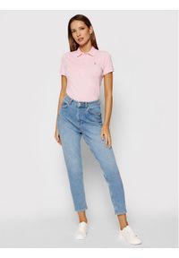 Polo Ralph Lauren Polo 211505654069 Różowy Slim Fit. Typ kołnierza: polo. Kolor: różowy