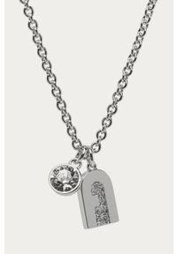 Srebrny naszyjnik Furla z aplikacjami, z kryształem, metalowy