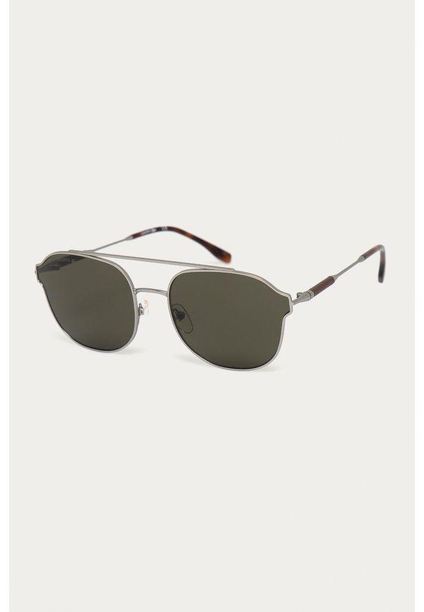Lacoste - Okulary przeciwsłoneczne L103SND 40006. Kolor: szary. Wzór: gładki