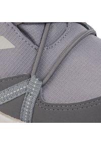 Szare śniegowce Adidas z cholewką