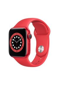 Czerwony zegarek APPLE sportowy, smartwatch
