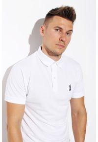 Biała koszulka polo Edward Orlovski polo, klasyczna