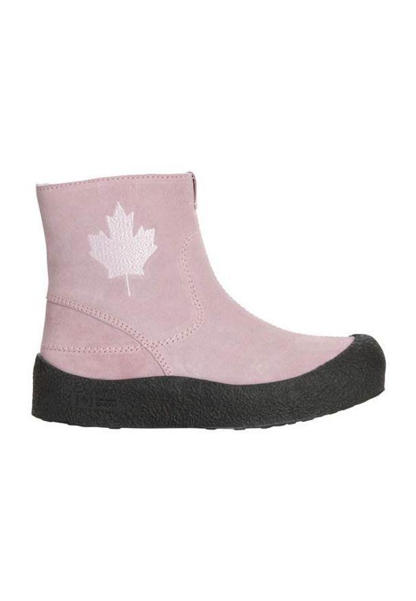 Różowe botki Canada Snow na zamek, z cholewką