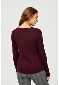 Sweter MOODO z dekoltem w serek
