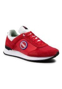 Colmar - Sneakersy COLMAR - Travis Bold 132 Red/White. Okazja: na co dzień. Kolor: czerwony. Materiał: zamsz, materiał, skóra. Szerokość cholewki: normalna. Styl: casual, klasyczny