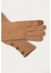 Lauren Ralph Lauren - Rękawiczki. Kolor: beżowy