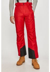 Czerwone spodnie 4f z aplikacjami
