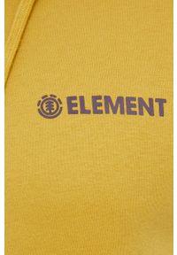 Element - Bluza. Kolor: żółty. Wzór: nadruk