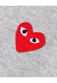 COMME DES GARCONS PLAY - Szara bluza z czerwonymi sercami. Typ kołnierza: bez kaptura. Kolor: szary. Materiał: bawełna. Długość rękawa: długi rękaw. Długość: długie #3