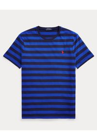 Niebieski t-shirt Ralph Lauren polo, w paski