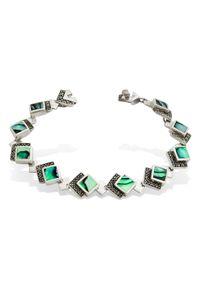 Braccatta - ZEW OCEANU Srebrna bransoletka szare perły Abalone markazyty. Materiał: srebrne. Kolor: srebrny, wielokolorowy, szary. Kamień szlachetny: markazyt, perła
