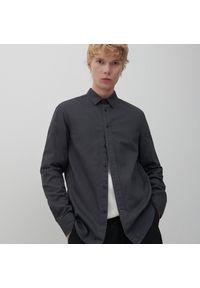 Reserved - Bawełniana koszula - Szary. Kolor: szary. Materiał: bawełna