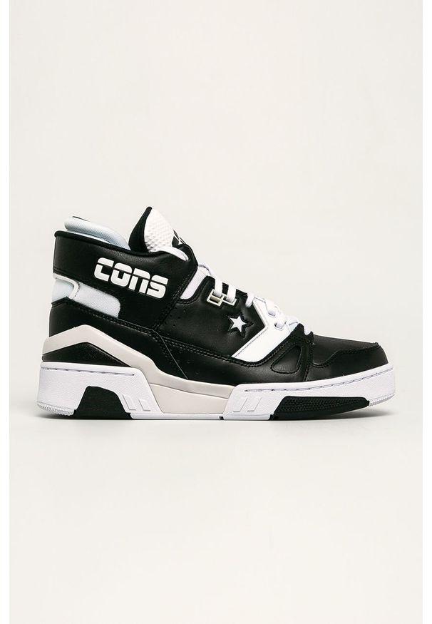Czarne sneakersy Converse z cholewką, na sznurówki