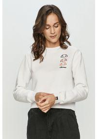 Biała bluza Ellesse z długim rękawem, bez kaptura #5