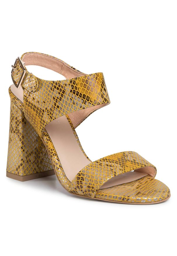 Żółte sandały Baldaccini eleganckie