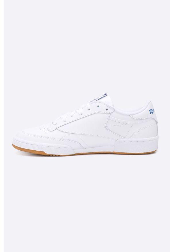 Białe sneakersy Reebok Classic z cholewką, Reebok Classic, na sznurówki