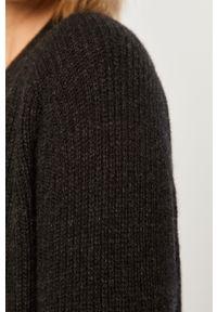 Szary sweter rozpinany Polo Ralph Lauren casualowy, na co dzień, raglanowy rękaw