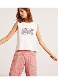 Piżama Etam z nadrukiem, krótka
