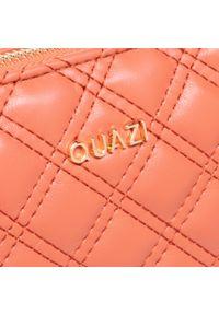 Torebka QUAZI - RX90039 Orange. Kolor: pomarańczowy. Materiał: skórzane. Styl: klasyczny