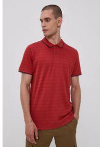 Tom Tailor - Polo. Okazja: na co dzień. Typ kołnierza: polo. Kolor: czerwony. Długość: krótkie. Styl: casual