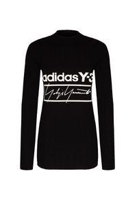 Czarny sweter Y-3 z nadrukiem