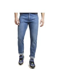 Niebieskie jeansy Wrangler casualowe, na co dzień