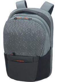 Szary plecak na laptopa Samsonite z nadrukiem