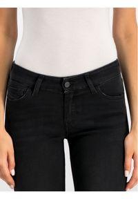 Diesel Jeansy 00SXJN069GG Czarny Slim Fit. Kolor: czarny. Materiał: elastan, poliester, bawełna, jeans