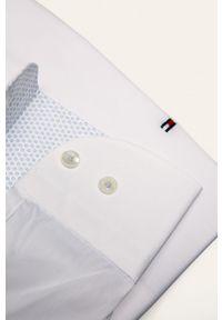 Biała koszula Tommy Hilfiger Tailored z włoskim kołnierzykiem, długa