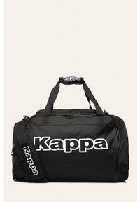 Czarna torba Kappa z nadrukiem