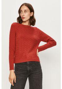Brązowy sweter only casualowy, długi, na co dzień, z długim rękawem