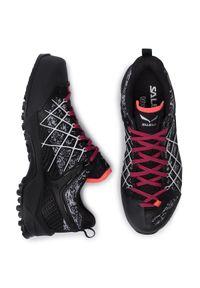 Czarne buty trekkingowe Salewa trekkingowe, z cholewką, Gore-Tex