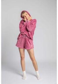 MOE - Komfortowe Pluszowe Szorty - Wrzosowe. Kolor: fioletowy. Materiał: poliester