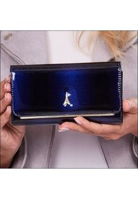 Niebieski portfel PARIS DESIGN