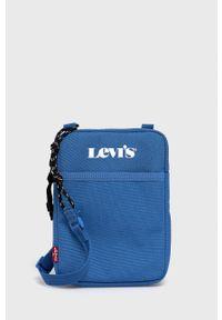 Levi's® - Levi's - Saszetka. Kolor: niebieski. Styl: biznesowy. Rodzaj torebki: na ramię