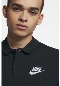 Czarna koszulka polo Nike casualowa, na co dzień, krótka, polo