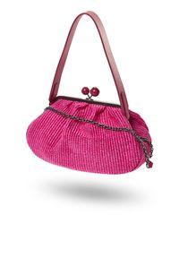 Różowa torebka Weekend Max Mara z aplikacjami, na ramię