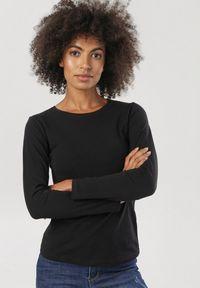 Czarna bluzka z długim rękawem Born2be
