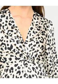 Pinko - PINKO - Biała sukienka w cętki Frappe 3. Kolor: czarny. Materiał: tkanina. Długość rękawa: długi rękaw. Wzór: aplikacja. Sezon: lato, wiosna. Długość: mini