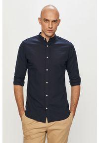 Niebieska koszula PRODUKT by Jack & Jones ze stójką, casualowa