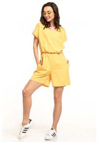 Żółty kombinezon na lato Tessita krótki