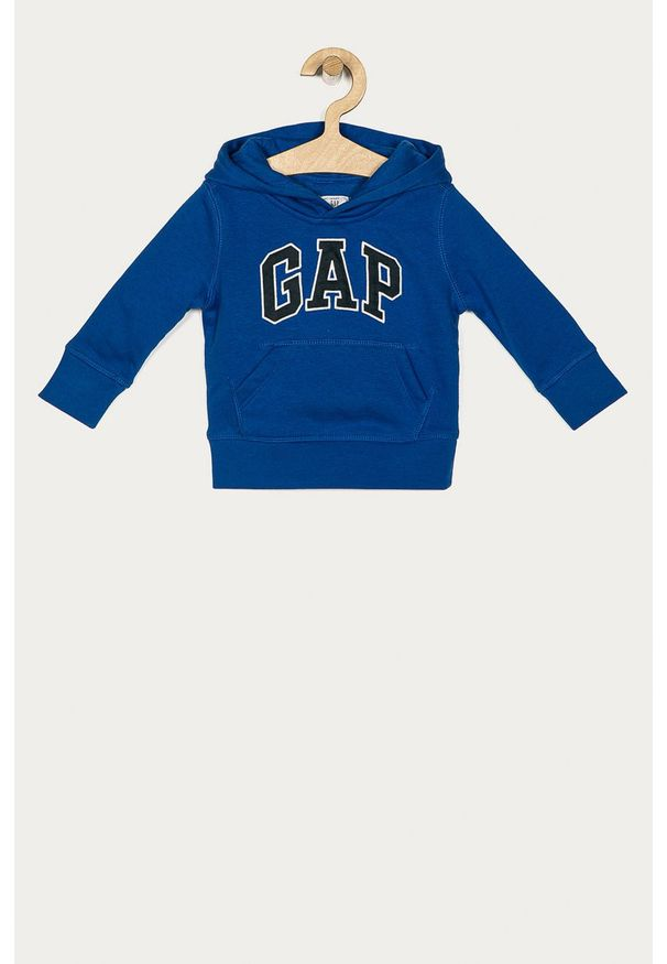 Niebieska bluza GAP z aplikacjami, casualowa, z kapturem