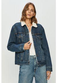 Levi's® - Levi's - Kurtka jeansowa. Okazja: na co dzień, na spotkanie biznesowe. Kolor: niebieski. Materiał: jeans. Styl: biznesowy, casual